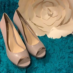 Peek-toe heels